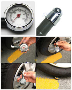 Convenient Car Dial Tire Gauge Meter Precision Pressure Tyre Measure Metal