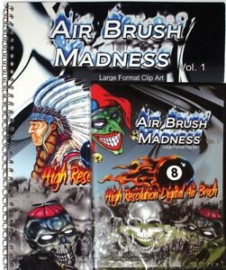 Air Brush Madness 1 Xtreme Graphics Large Format Clip Art Prints Vinyl Signs