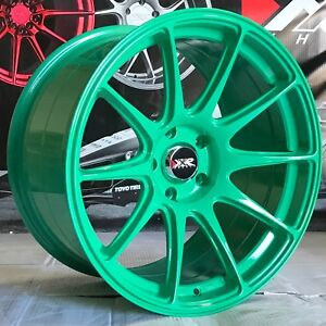 Xxr 527 Green 18 X9 75 20 Concave Rim Wheels S 5x114 3 Mitsubishi Evolution X Z