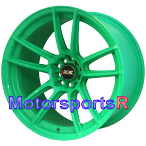 Xxr 969 R Wasabi Green 18 X10 25 20 Rims Wheels 5x4 5 98 99 03 04 Mustang Cobra