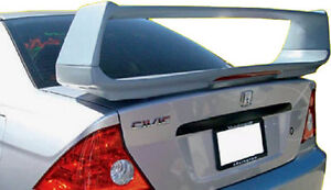 Fits 2001 2005 Honda Civic Custom Style Spoiler Wing Primer Un Painted New