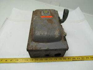 Square D A85341 Ser a1 Fused Single Throw Safety Switch Disconnect 30a 600v