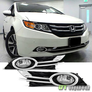 2014 2017 Odyssey Fog Lights Bumper Lamps W switch bulb Left right 14 15 16 17