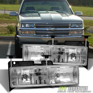 Glass Len 88 98 Chevy Gmc C10 C K Full Size Pickup Truck Headlights Lamps Lights