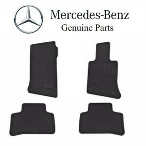 For Mercedes Glk250 Glk350 Black Rubber All Season Floor Mats Genuine Q6680695