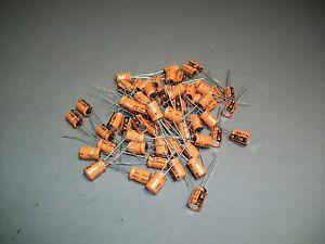 Lot Of 100 Vishay Sprague 503d Capacitor 47 Uf 16 V Craft Jewelry New