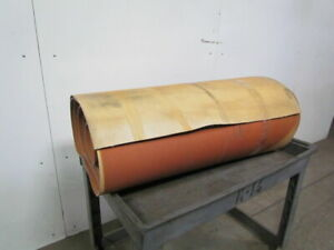3 Ply Tan Rubber Slip Top Center V Guide Conveyor Belt 69ft X 37 5 8
