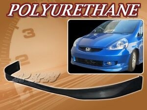 For 07 08 Honda Fit T R Poly Urethane Pu Front Bumper Lip Spoiler Body Kit