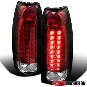 For 1988 1998 Chevy Gmc C K Silverado Sierra Red Led Tail Brake Signal Lights