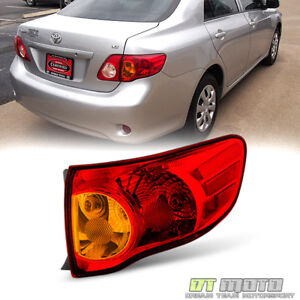 For 2009 2010 Toyota Corolla Tail Lights Brake Lamps Outer Right Passenger Side