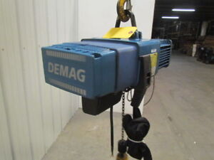 Demag Dcs pro 1 125 H8 Vs 250lb 1 8 Ton Electric Chain Hoist Fall Variable Speed