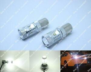2x Super Bright White Led Backup Reverse Lights Ba15ss 1156a 7506 Cree Bulbs 30w