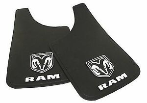 2pc Dodge Ram White Logo 9x15 Mud Flaps Splash Guard Car Truck Suv Dakota New