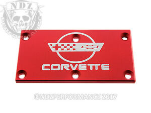 Tpi Throttle Body Plate Z28 Chevy Bowtie Corvette C4 Red