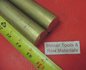 2 Pieces 1 1 8 C360 Brass Solid Round Rod 15 Long 1 125 H02 Lathe Bar Stock