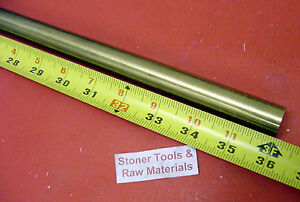 3 4 C360 Brass Solid Round Rod 36 Long New Lathe Bar Stock H02 75 Diameter