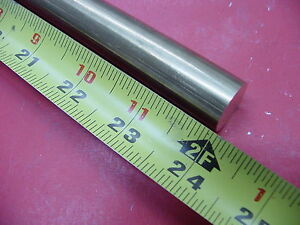 7 8 C360 Brass Solid Round Rod 24 Long New Lathe Bar Stock 875 1 2 Hard