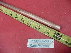 6 Pieces 5 8 C110 Copper Round Rod 24 Long H04 Solid 625 Cu Lathe Bar Stock