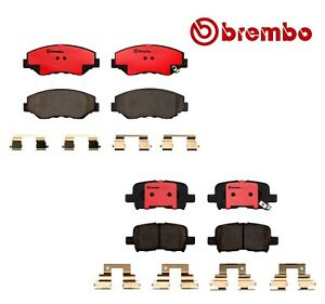 For Honda Pilot 2003 2008 Front And Rear Nao Ceramic Disc Brake Pads Brembo