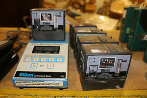 Lot Of 5 Gilian Gil Air 800464 Sampling Pump W Battery Maintenance System