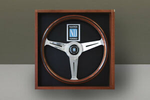 Nardi Classic Wood Polished Spoke Steering Wheel With Mahogany Display Box 360mm