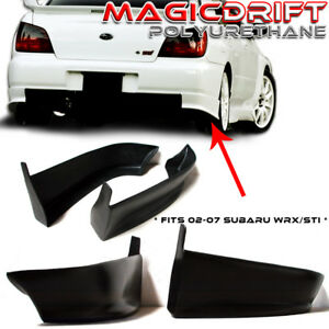 02 03 Impreza Wrx Sti Sedan Oe Style Rear Bumper Lip Splash Mud Guard Urethane
