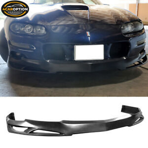 Fits Urethane 98 02 Chevy Camaro V Style Poly Front Bumper Lip Spoiler Pu
