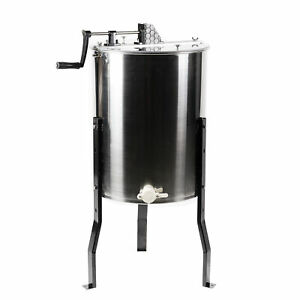 Four 4 8 Frame Stainless Steel Bee Honey Extractor Ss Honeycomb Drum Bee v004b