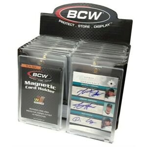 Box 18 Bcw 55 Point Uv Protected Magnetic Thick Trading Card Holders One Touch