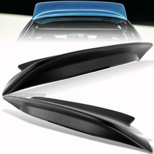 92 95 Honda Civic Hatchback Cx Dx Si Unpainted Black Abs Rear Roof Spoiler Wing