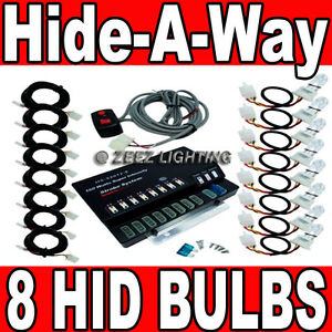 160w 8 Hid Bulb Hide a way Emergency Hazard Warning Flash Strobe Light System 11