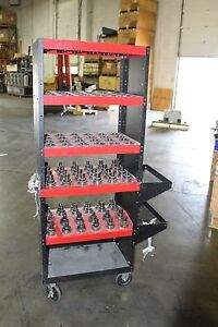 Lot Of 48 Taper Tool Holder Shrinker Parlec With Cart