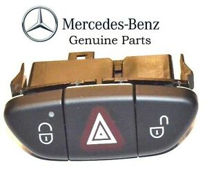 New For Mercedes Benz Switch Hazard Assembly Black Genuine 230 821 34 51 9116