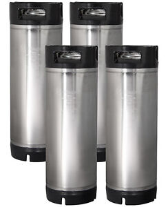 Four New Kegco 5 Gallon Ball Lock Pepsi Cornelius Home Brew Kegs Rubber Handle