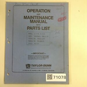 Taylor Dunn Manual Mb 248 03 Used 71078