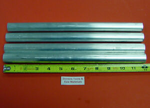 4 Pieces 7 8 Aluminum 6061 Round Rod 12 Long T6511 875 Solid Lathe Bar Stock