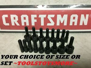 New Craftsman Nut Driver Bit Sae Or Metric Your Choice Of Single Or Set