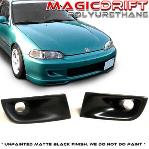 For 92 95 Honda Civic Eg Eg6 Front Bumper Jdm Air Duct Vent Urethane Black Js