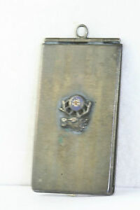 Victorian Antique Sterling Silver Elks Club Membership Card Case