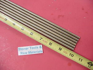 6 Pieces Of 1 4 C360 Brass Solid Round Rod 10 Long 250 Lathe Bar Stock