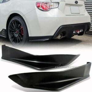 Sti Style Brz Frs Rear Bumper Side Lip Spoiler For 13 18 Subaru Br Z Scion Fr S