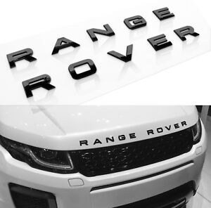 1 New Range Rover Land Rover Sport Hse Hood Or Trunk Emblem Badge Gloss Black