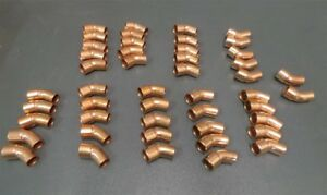 Elkhart 1 2 Elbow Close Ruff Solder Joint Copper 106 2 Lot Of 47 New
