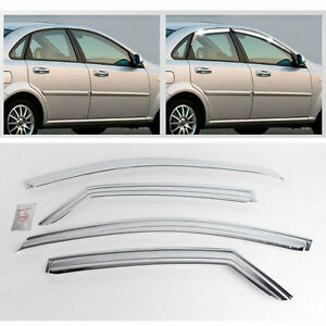 2004 08 Lacetti optra forenza 4door Chrome Sun Shade Rain Guard Door Visor K 661