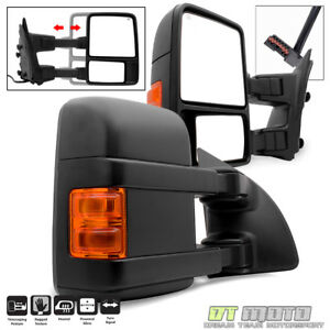 L R 1999 2007 Ford F250 F350 Super Duty Power Heated Signal Towing Side Mirrors