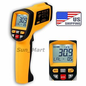 Us 50 1 Digital Infrared Thermometer 0 1 1em Pyrometer 1350 c 2462 f Pro Ir Gun