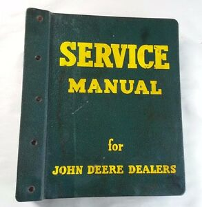 1961 John Deere 1000 Crawler Tractor Service Manual With John Deere Binder