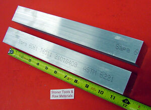 2 Pc 2 X 2 Aluminum 6061 Square Flat Bar 12 Long T6511 Solid 2 00 Mill Stock