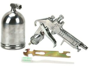 Deluxe Gravity Feed Air Spray Gun Professional Paint Sprayer Tool Metal Cup 2 0m
