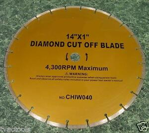 14 Diamond Cut Off Saw Blade Tool New Concrete Stone